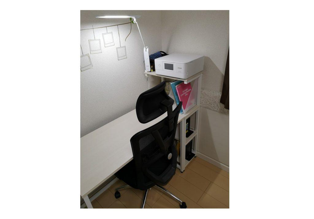 ticova椅子とオススメ机・ライト
