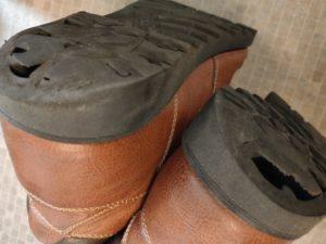 防水靴割れ
